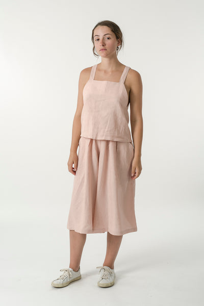 HEMP LINEN APRON TOP