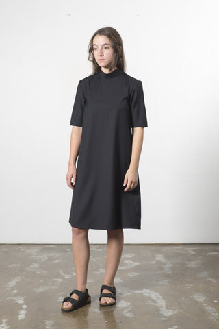 AUSTRALIAN WOOL HIGH NECK DRESS
