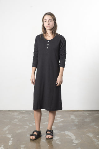 HEMP JERSEY HENLEY DRESS