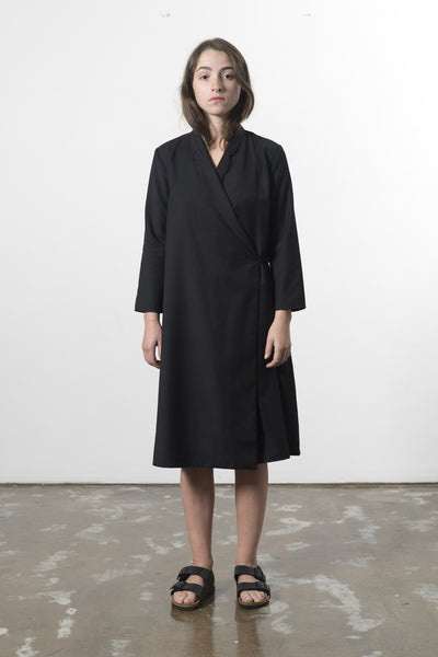 AUSTRALIAN WOOL WRAP DRESS