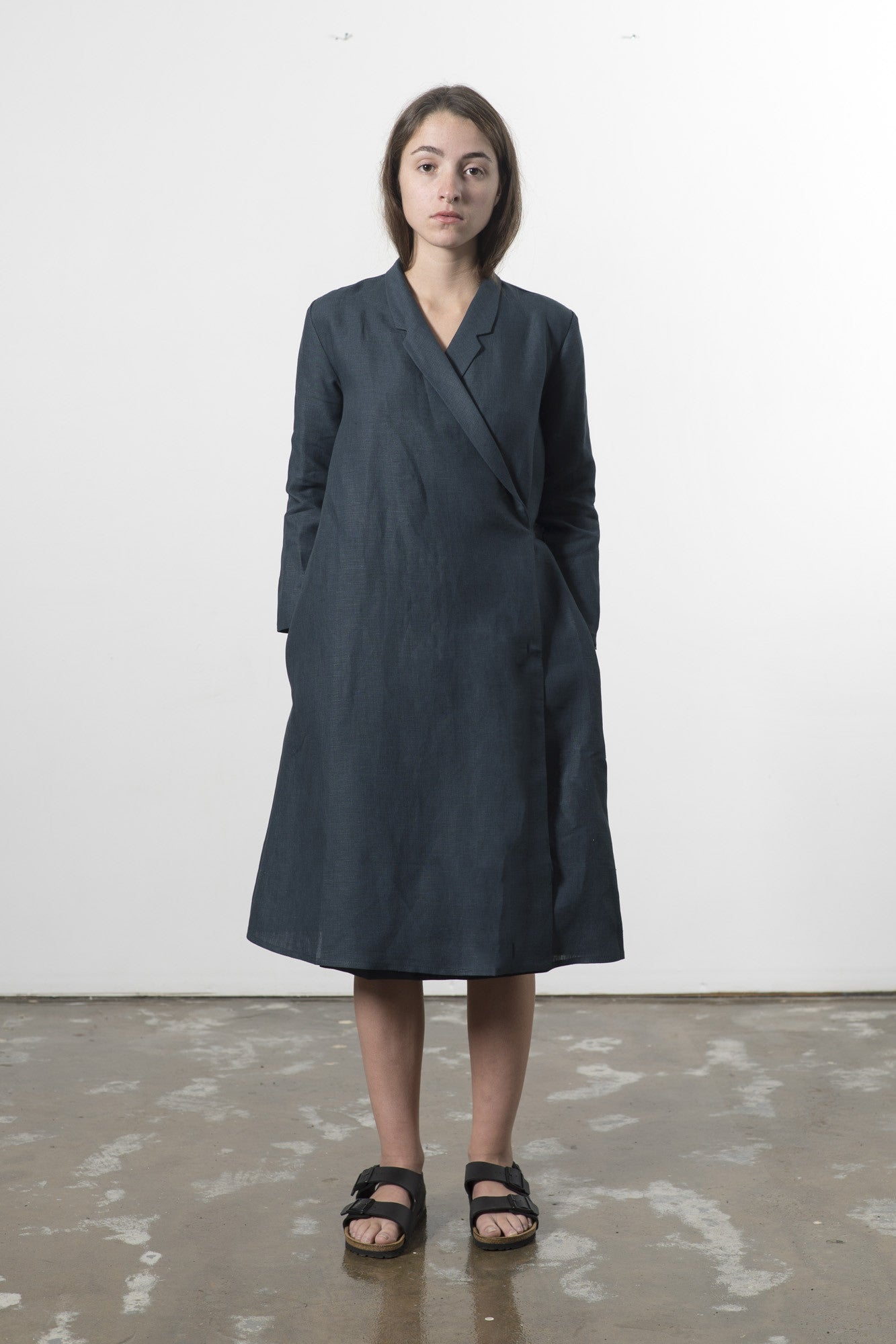 HEMP LINEN WRAP DRESS