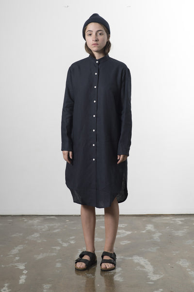 WOMENS MANDARIN COLLAR SHIRTDRESS