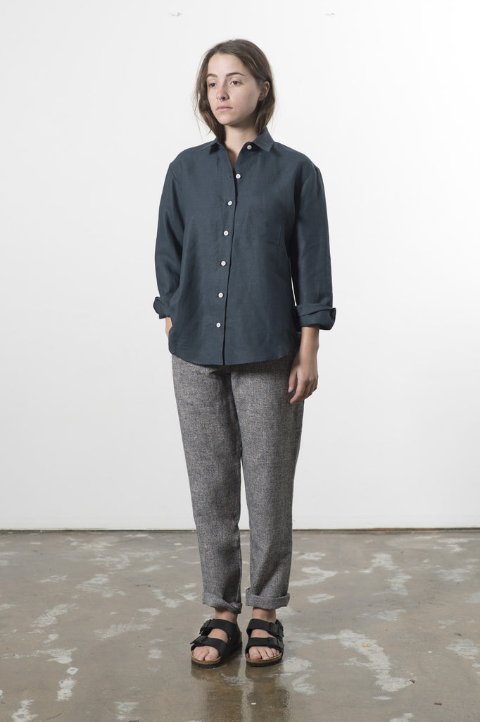 HEMP LINEN TRAVEL SHIRT