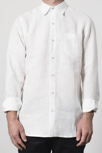MENS HEMP LINEN CLASSIC COLLAR SHIRT