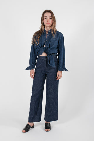 HEMP DENIM GAUCHO PANT