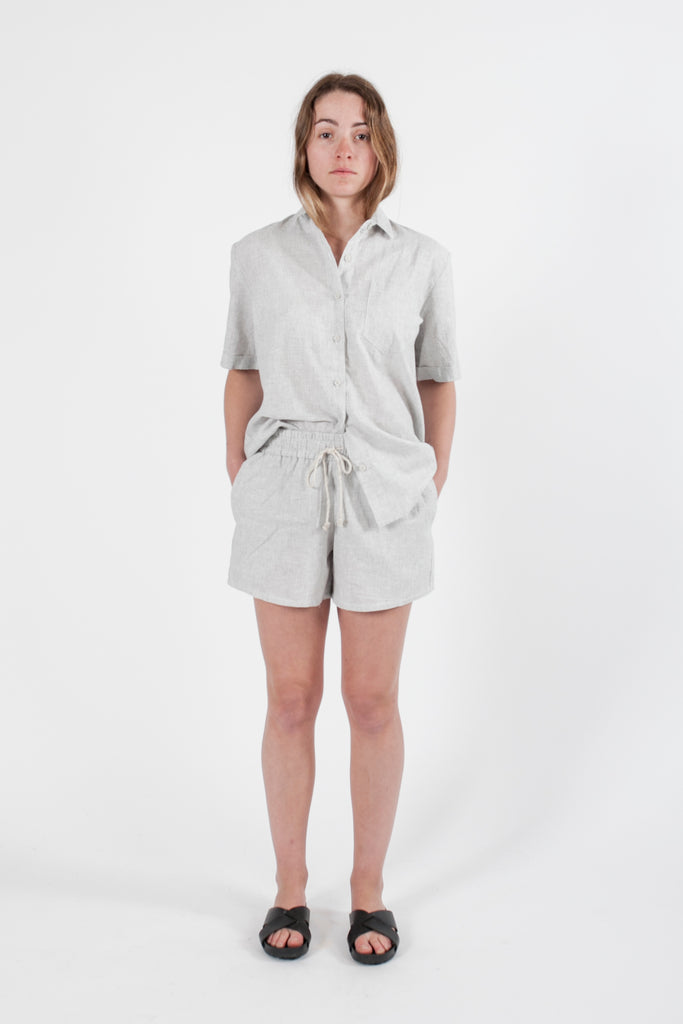 HEMP LINEN SHORT SLEEVE TRAVEL SHIRT