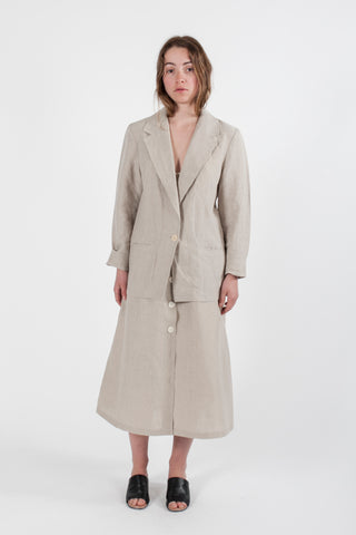 HEMP LINEN SINGLE BREASTED BLAZER