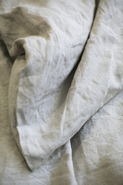 OATMEAL HEMP LINEN FITTED SHEET