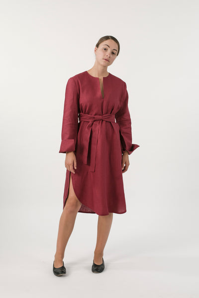 HEMP LINEN TUNIC DRESS