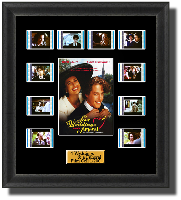 4 Weddings & A Funeral (1994) 35mm Film Cell Memorabilia With LED Backlight Usb Powered Soft Touch Dimmable
