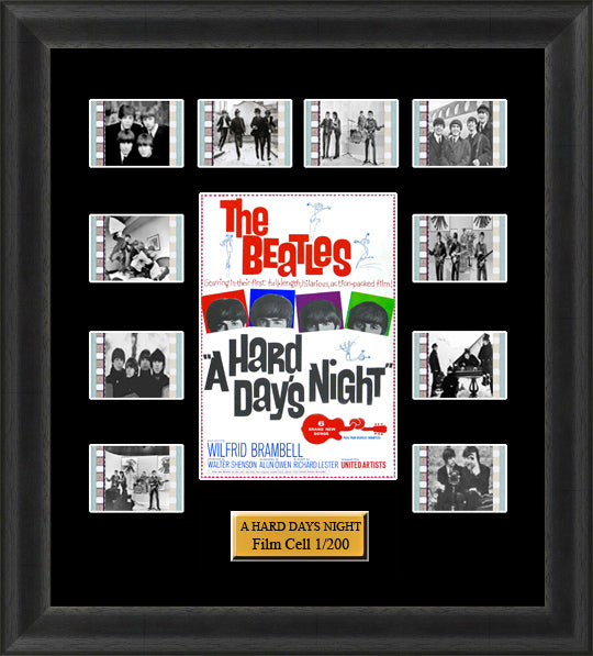 The Beatles A Hard Days Night (1964) 35mm Film Cell Memorabilia With LED Backlight Usb Powered Soft Touch Dimmable Backlit Back Light