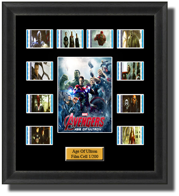 Avengers Age of Ultron 2015 35mm Film Cell Memorabilia With LED Backlight Usb Powered Soft Touch Dimmable Backlit Back Light