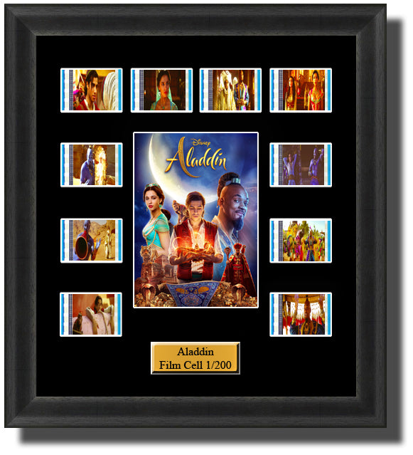 Aladdin 2019 35mm Film Cell Memorabilia With LED Backlight Usb Powered Soft Touch Dimmable Backlit Back Light