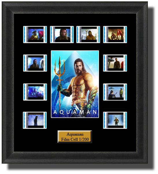 Aqua Man (2018) 35mm Film Cell Memorabilia With LED Backlight Usb Powered Soft Touch Dimmable Backlit Back Light