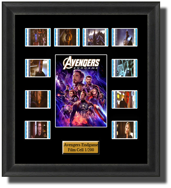 The Avengers Endgame (2019) 35mm Film Cell Memorabilia With LED Backlight Usb Powered Soft Touch Dimmable Backlit Back Light