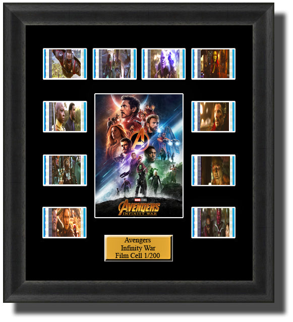 The Avengers Infinity War Film Cell Memorabilia