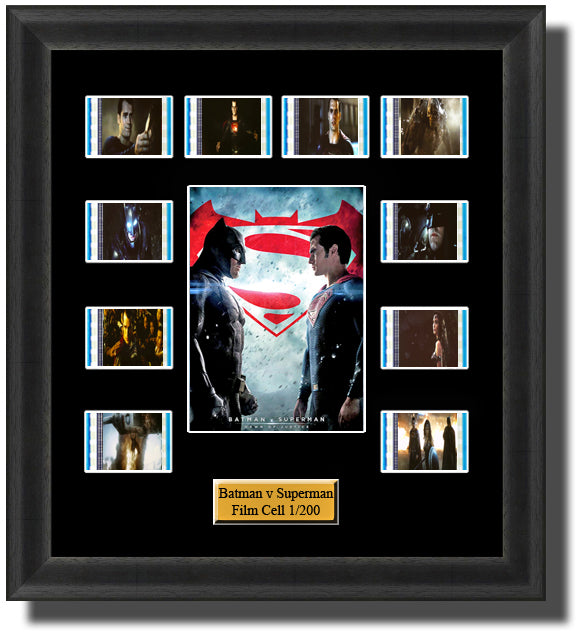 Batman v Superman Dawn of Justice 2016 35mm Film Cell Memorabilia With LED Backlight Usb Powered Soft Touch Dimmable Backlit Back Light