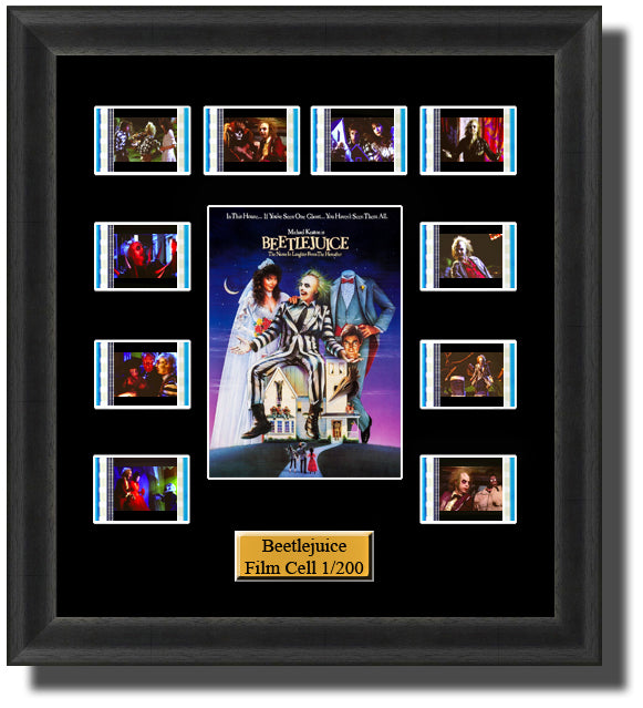 Beetlejuice 1988 35mm Film Cell Memorabilia With LED Backlight Usb Powered Soft Touch Dimmable Backlit Back Light
