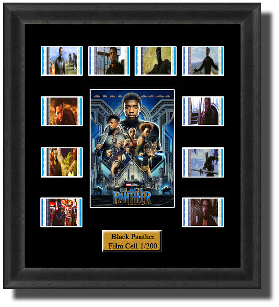 Black Panther (2018) 35mm Film Cell Memorabilia With LED Backlight Usb Powered Soft Touch Dimmable Backlit Back Light