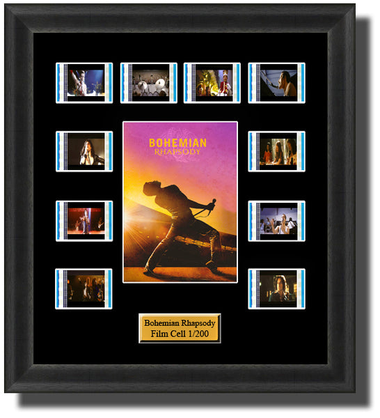 Bohemian Rhapsody (2018) 35mm Film Cell Memorabilia With LED Backlight Usb Powered Soft Touch Dimmable Backlit Back Light
