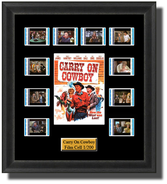 Carry On cowboy (1965) 35mm Film Cell Memorabilia With LED Backlight Usb Powered Soft Touch Dimmable Backlit Back Light