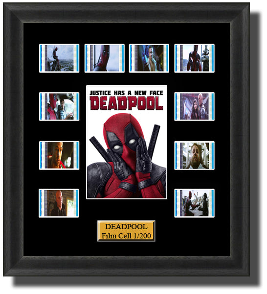 Deadpool (2016) 35mm Film Cell Memorabilia With LED Backlight Usb Powered Soft Touch Dimmable Backlit Back Light