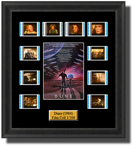 Dune (1984) 35mm Film Cell Memorabilia With LED Backlight Usb Powered Soft Touch Dimmable Backlit Back Light