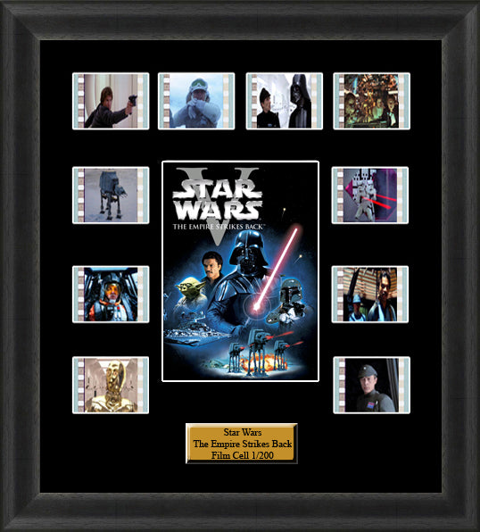 Star Wars The Empires Strikes Back (1980) 35mm Film Cell Memorabilia With LED Backlight Usb Powered Soft Touch Dimmable Backlit Back Light