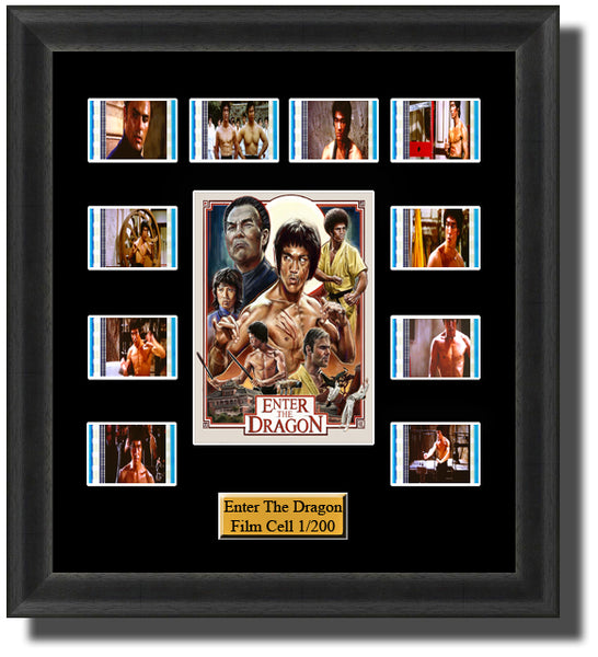 Enter the Dragon 1973 Bruce Lee 35mm Film Cell Memorabilia With LED Backlight Usb Powered Soft Touch Dimmable Backlit Back Light