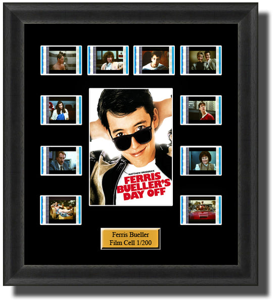 Ferris Buellers Day Off (1986) 35mm Film Cell Memorabilia With LED Backlight Usb Powered Soft Touch Dimmable Backlit Back Light