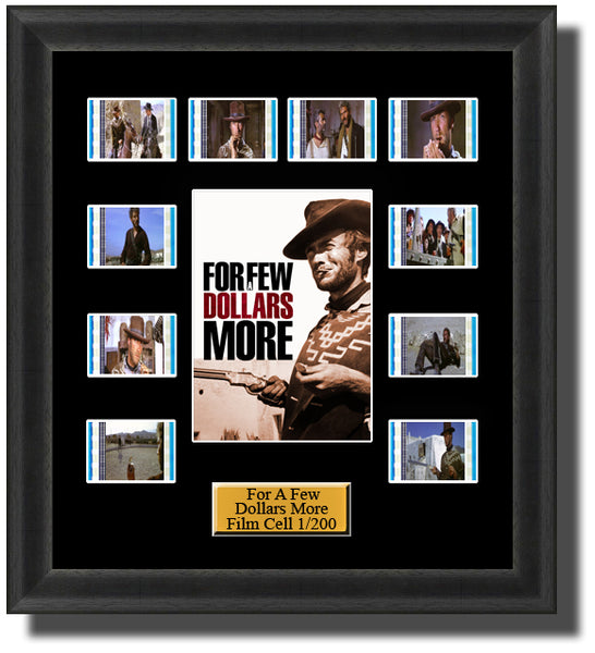 For A Few Dollars More Film Cell Memorabilia Clint Eastwood
