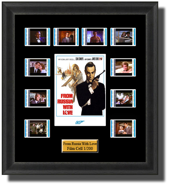 James Bond From Russia With Love (1963) 35mm Film Cell Memorabilia With LED Backlight Usb Powered Soft Touch Dimmable Backlit Back Light
