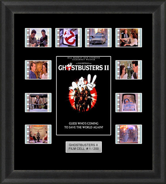 Ghostbusters 2 (1989) 35mm Film Cell Memorabilia With LED Backlight Usb Powered Soft Touch Dimmable Backlit Back Light