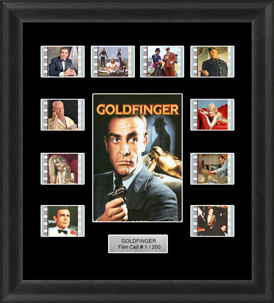 james bond goldfinger film cells