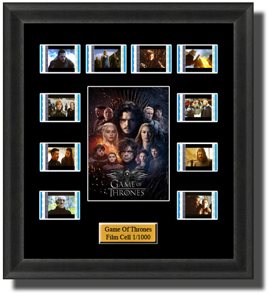 Game Of Thrones (2011-2019) 35mm Film Cell Memorabilia With LED Backlight Usb Powered Soft Touch Dimmable Backlit Back Light