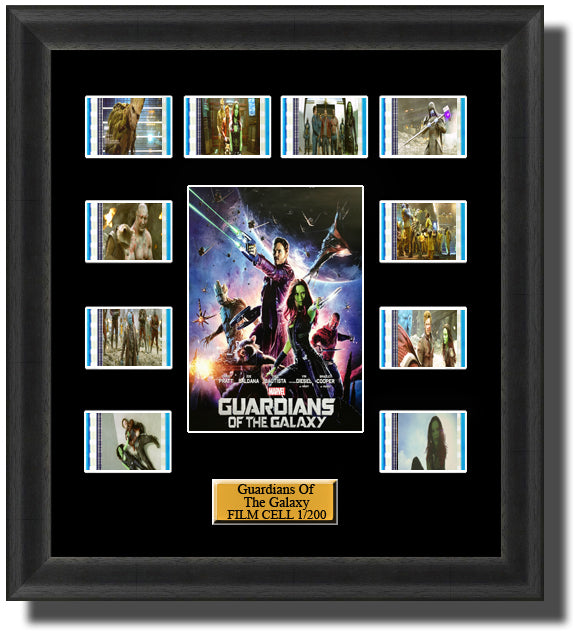 Guardians of the Galaxy 2014 35mm Film Cell Memorabilia With LED Backlight Usb Powered Soft Touch Dimmable Backlit Back Light