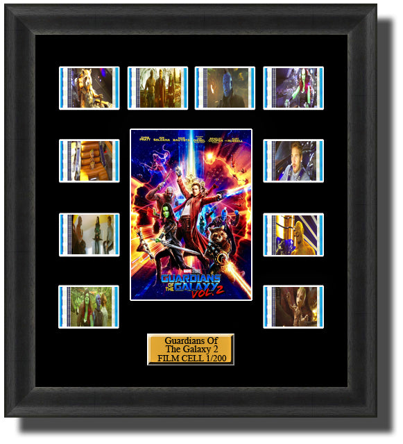 Guardians of the Galaxy 2 2017 35mm Film Cell Memorabilia With LED Backlight Usb Powered Soft Touch Dimmable Backlit Back Light