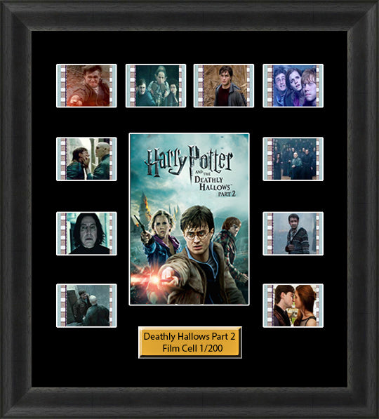 Harry Potter & The Deathly Hallows Part 2 (2011) 35mm Film Cell Memorabilia With LED Backlight Usb Powered Soft Touch Dimmable Backlit Back Light