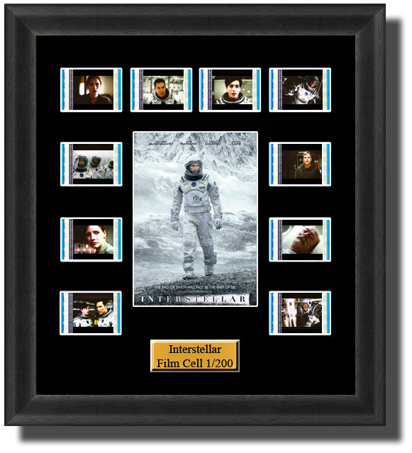 Interstellar (2014) 35mm Film Cell Memorabilia With LED Backlight Usb Powered Soft Touch Dimmable Backlit Back Light