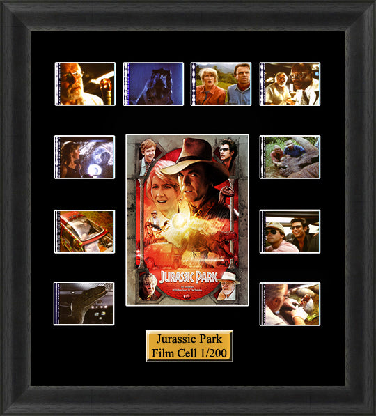 Jurassic Park (1993) 35mm Film Cell Memorabilia With LED Backlight Usb Powered Soft Touch Dimmable Backlit Back Light