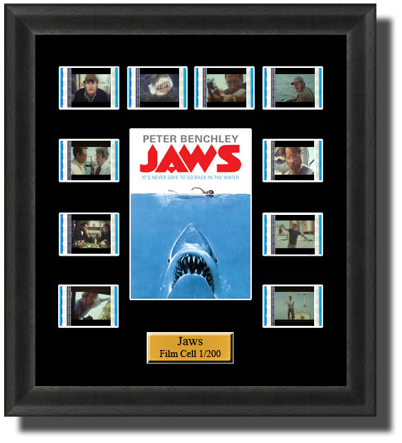 Jaws (1975) 35mm Film Cell Memorabilia With LED Backlight Usb Powered Soft Touch Dimmable Backlit Back Light