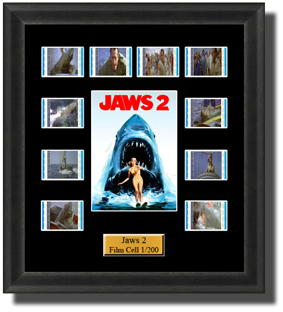 Jaws 2 (1978) 35mm Film Cell Memorabilia With LED Backlight Usb Powered Soft Touch Dimmable Backlit Back Light