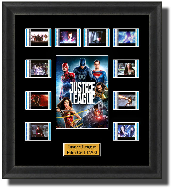 Justice League 2017 35mm Film Cell Memorabilia With LED Backlight Usb Powered Soft Touch Dimmable Backlit Back Light