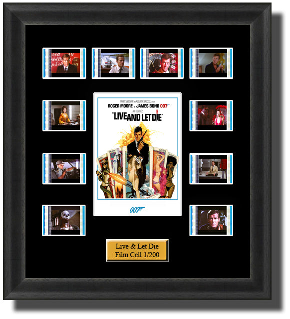 James Bond Live And Let Die (1973) 35mm Film Cell Memorabilia With LED Backlight Usb Powered Soft Touch Dimmable Backlit Back Light