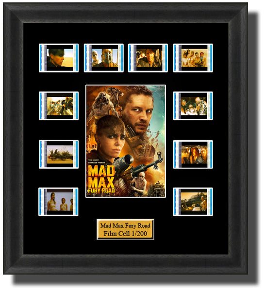 Mad Max Fury Road (2015) 35mm Film Cell Memorabilia With LED Backlight Usb Powered Soft Touch Dimmable Backlit Back Light