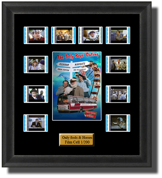 Only Fools And Horses Jolly Boys Outing (1989)35mm Film Cell Memorabilia With LED Backlight Usb Powered Soft Touch Dimmable Backlit Back Light