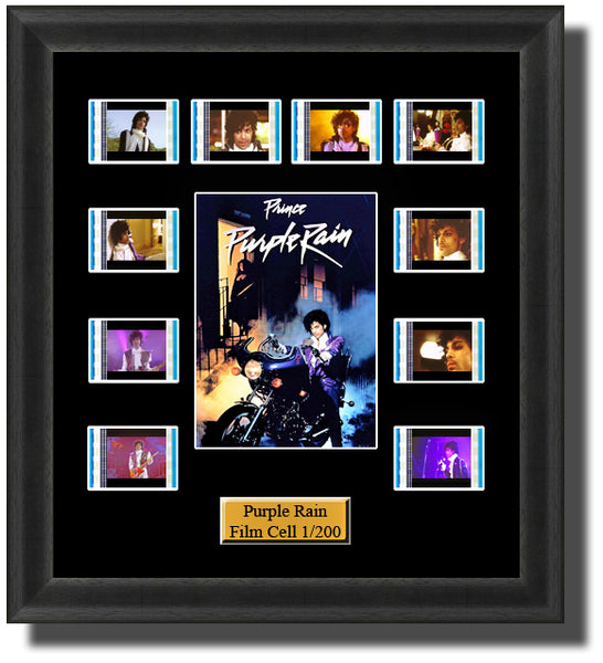 Purple Rain 1984 35mm Film Cell Memorabilia With LED Backlight Usb Powered Soft Touch Dimmable Backlit Back Light