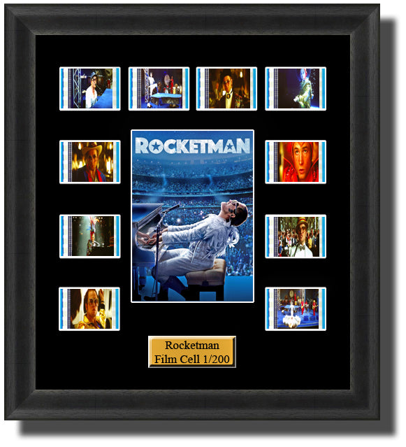 Rocketman 2019 35mm Film Cell Memorabilia With LED Backlight Usb Powered Soft Touch Dimmable Backlit Back Light