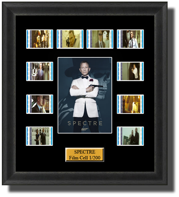 James Bond Spectre (2015) 35mm Film Cell Memorabilia With LED Backlight Usb Powered Soft Touch Dimmable Backlit Back Light