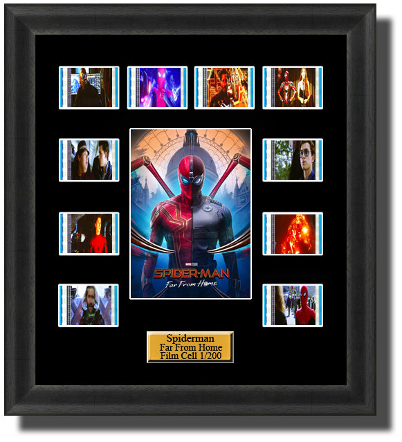 SpiderMan Far From Home 2019 35mm Film Cell Memorabilia With LED Backlight Usb Powered Soft Touch Dimmable Backlit Back Light